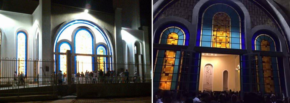 Igreja Matriz - Vista externa noite