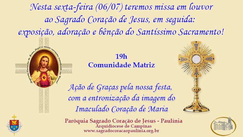 Missa em louvor ao Sagrado Coração de Jesus