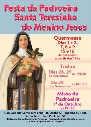 Comunidade Santa Teresinha: Festa Padroeira