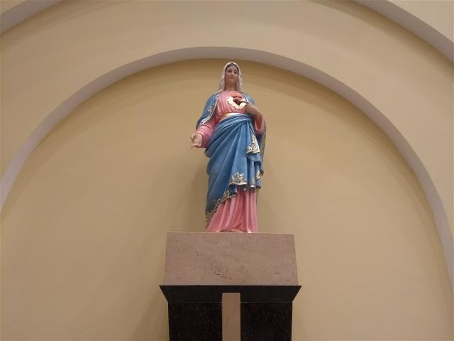 Entronização Imagem Sagrado Coração de Maria