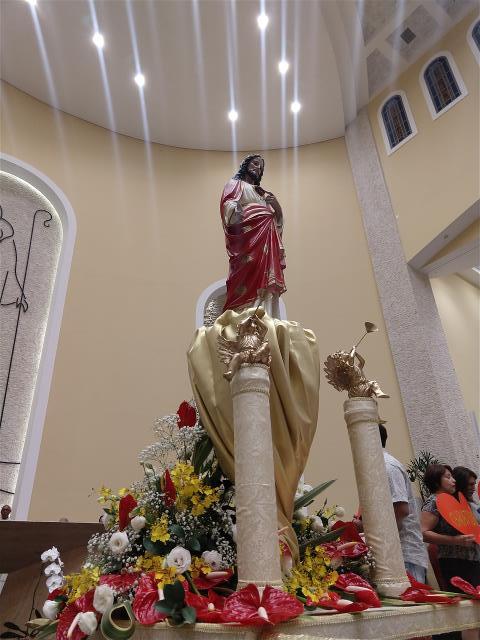 Missa Padroeiro: Andor com imagem padroeiro