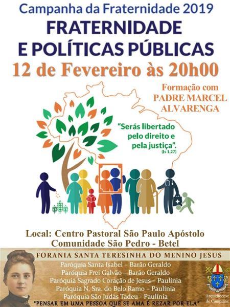 CF 2019: Fraternidade e Políticas Públicas