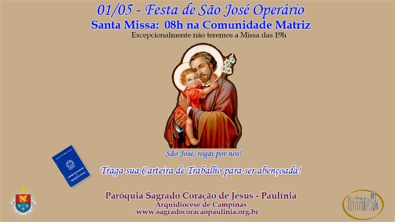 Missa em louvor à São José Operário