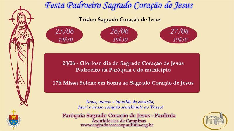 Festa Padroeiro Sagrado Coração de Jesus