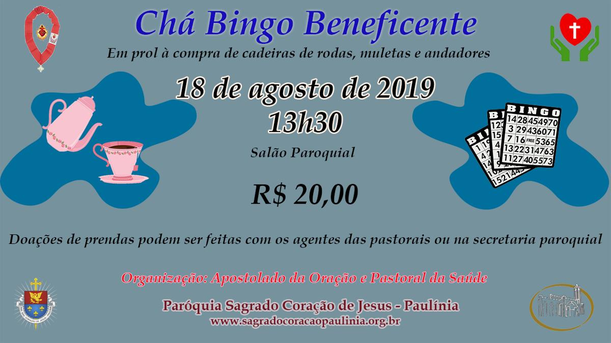 Chá Bingo: deliciosamente beneficente