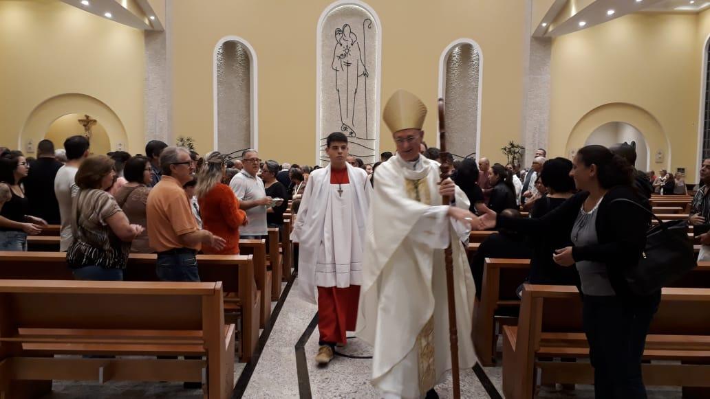 Dom João Inácio: Primeira missa em Paulínia
