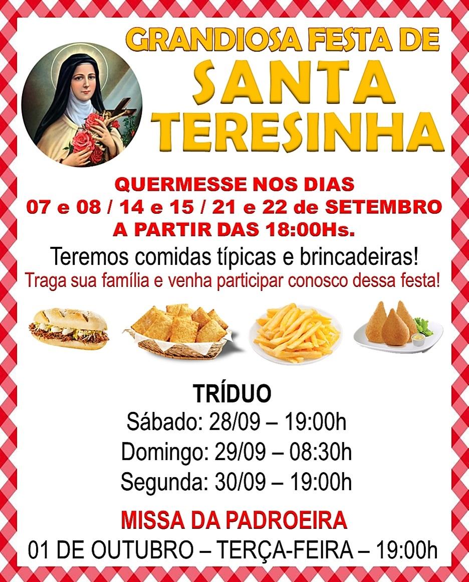 Festa padreira Santa Teresinha do Menino Jesus