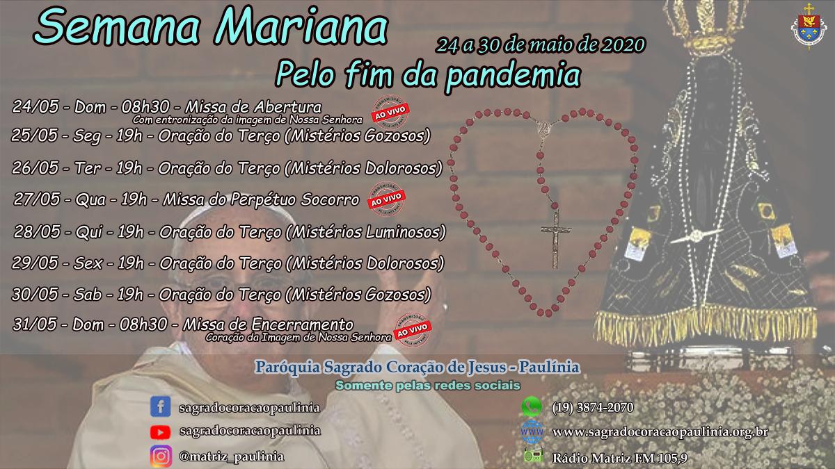 Semana Mariana pelo fim da pandemia