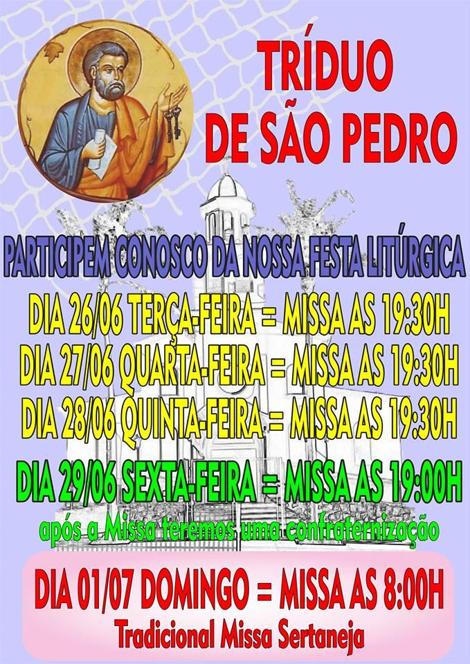 Comunidade São Pedro: Festa Padroeiro