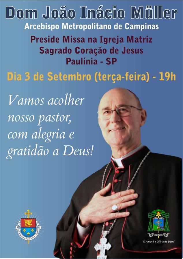 Primeira missa de dom João em Paulínia