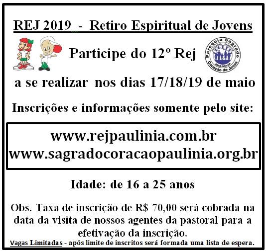 Participe do 12º REJ