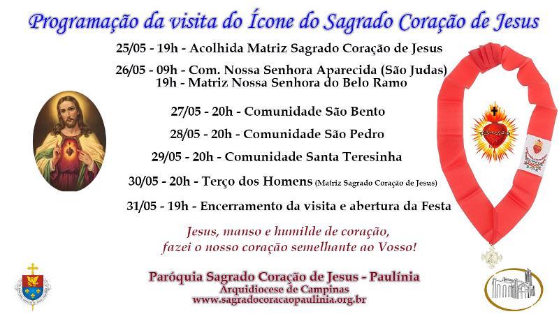Visita Ícone do Sagrado Coração de Jesus
