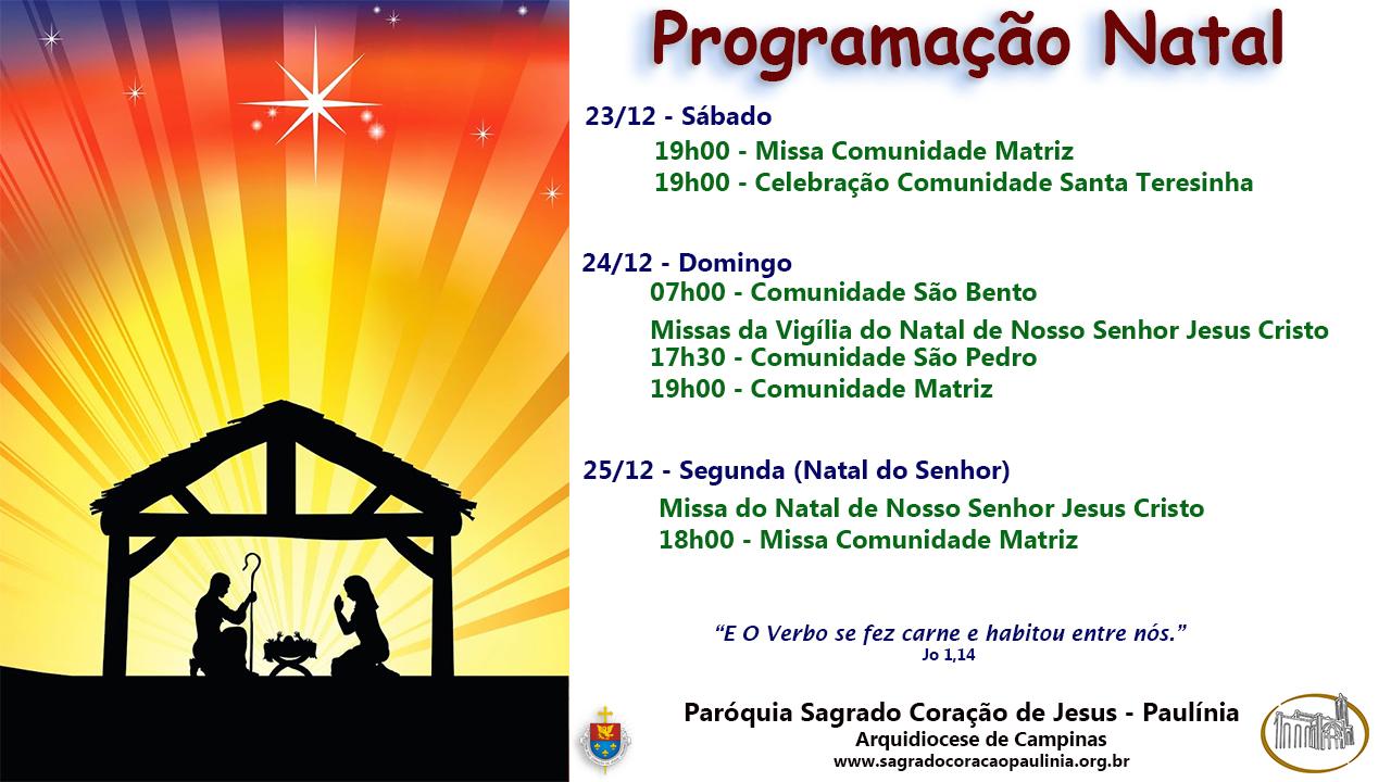 Programação Natal