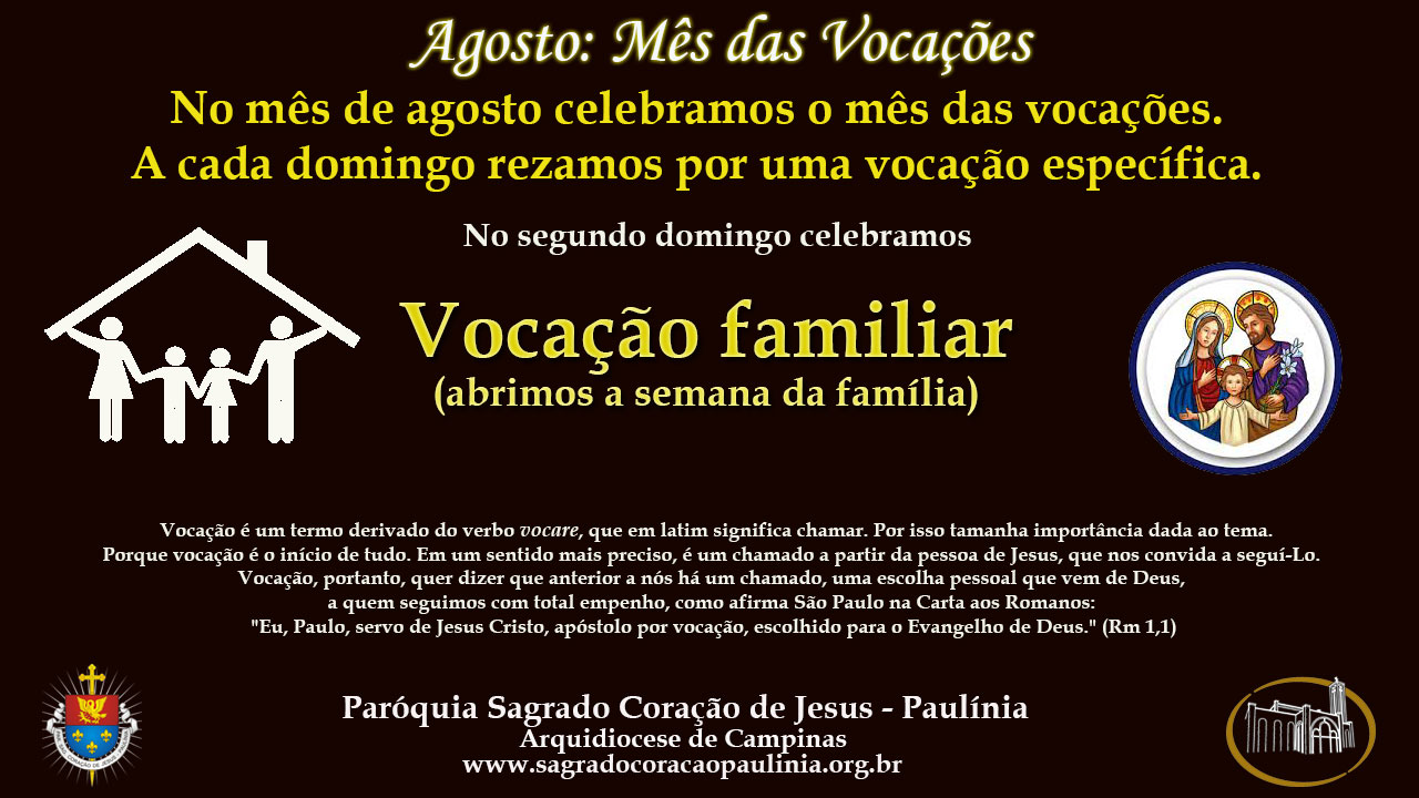 2° Domingo: Vocação Familiar